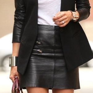 NWOT H&M leather skirt
